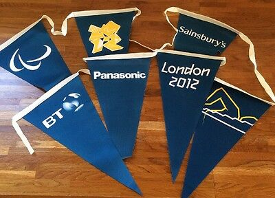 London 2012 Olympic Paralympic Games Swimming Pool Backstroke Flags