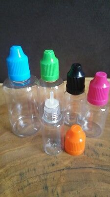 Tropfflaschen PET 3 Stck. 10 ml 15 ml 30 ml 50 ml dropper bottle Liquidflasche