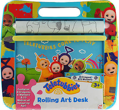 Teletubbies Rolling Art Desk - Colouring Station Toy