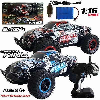 2.4GHz HIGH SPEED RACING ELECTRIC RC RADIO REMOTE CONTROL DRIFT 4WD CAR KID TOY