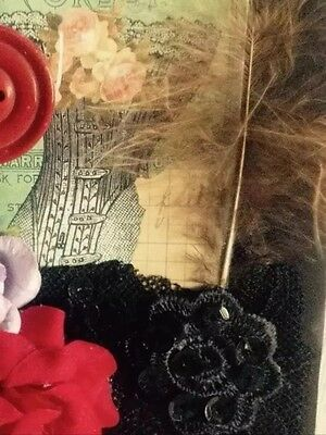 Mixed Media Collage Assemblage Art Vintage Canvas 3