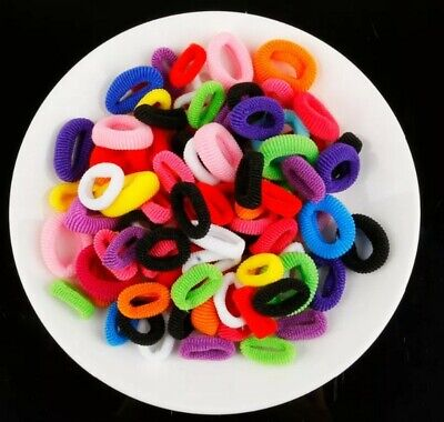 20/50x BABY SIZE Hair Ties Small Spandex Stretch Bands see note