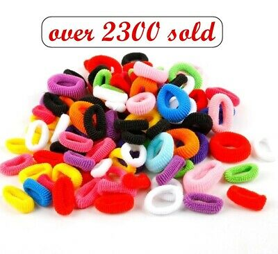 Girls 20pcs BABY SIZE HAIR TIES Multi Colours Elastic Spandex Head Bands