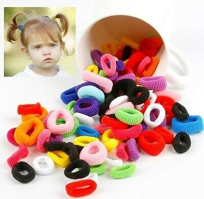 Girls 20x BABY SIZE HAIR TIES Multi Colours Elastic Spandex Head Bands