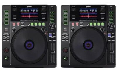 2 x Gemini MDJ-1000 Professional Media DJ CD Player USB MP3 CDJ