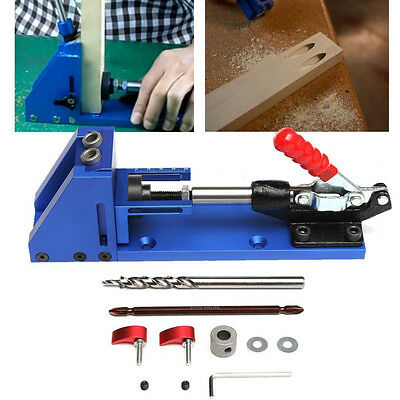 Pocket Hole Jig Aluminum Joinery Drilling System For Professional Wood Working