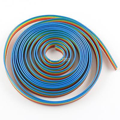 2M Meter 1.27mm Pitch 6 Way Wire Conductor Rainbow Color IDC Flat Ribbon Cable