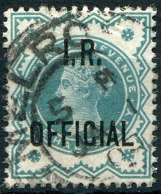 GB Officials QV 1901 SG O17 IR Official 1/2d blue-green cds used, Cat £15