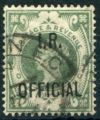 GB Officials QV 1889 SG O15 IR Official 1s dull green sound to good used cds
