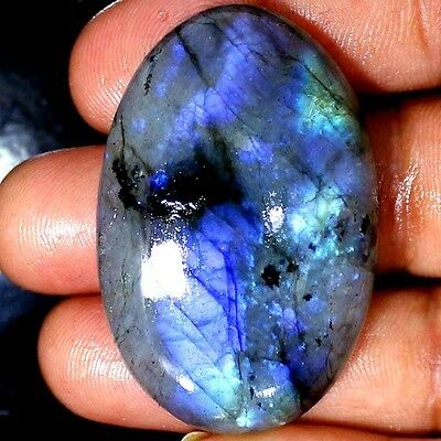 150.00 CTs 100% NATURAL BLUE Labradorite OVAL CABOCHON MASSIVE LOOSE GEMSTONE