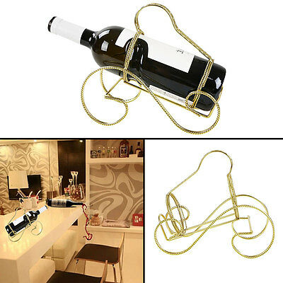 Single Bottle Wine Rack Hanging Storage Organizer Holder Shelf Dining Bar Decor