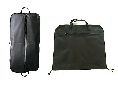 "3 x Black 44"" Large Suit Carrier Garment Cover Travel Bag Strong Nylon Foldable"
