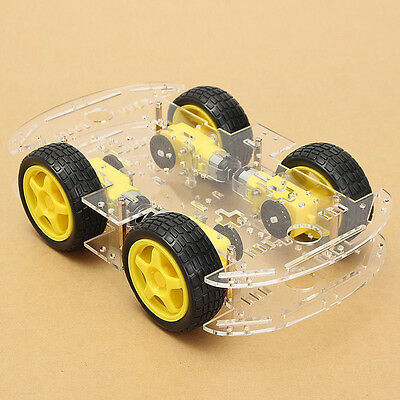 4WD Robot Smart Car Chassis Kits car with Speed Encoder M26 DIY Steering Engine