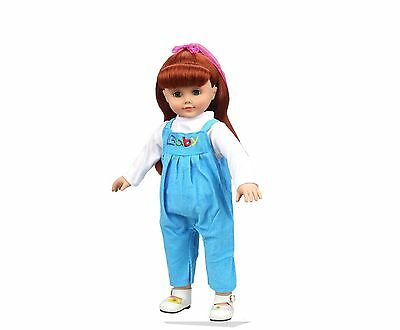 Highmall-uk 16 Inches High Simulation Baby Doll's Clothes Rompers Suit 1 Blue