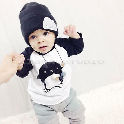 Cute Baby Boys Cartoon Children Outfits Long Sleeve Tops+Pants Casual Sets 2-3 Y