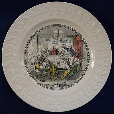 Vintage Adams Pottery.Large Wall Plate.Pickwick.Mr Pickwick Addresses the Club