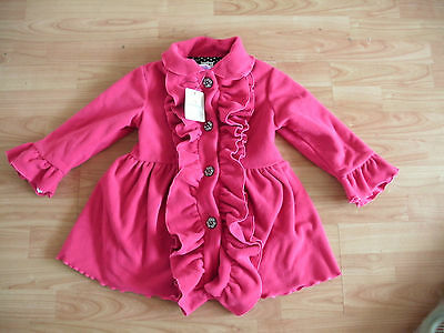 Mack & Co Pink Frilly Ruffle Coat Age 5 Years NEW (R-26)