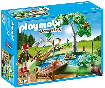 Playmobil 6816 FISHING POND WITH ANIMALS     BRAND NEW / SEALED
