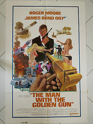 THE MAN WITH THE GOLDEN GUN James Bond 007 Authentic One Sheet Poster 1974