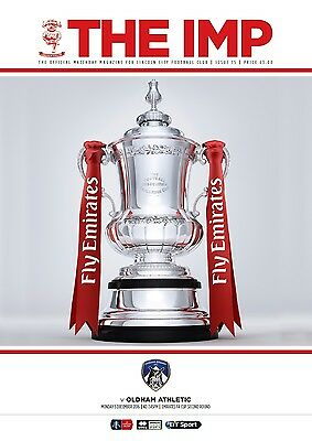 Lincoln City v Oldham Athletic, Emirates FA Cup Second Round 2016/17 Programme