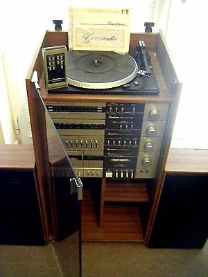 BINATONE MUSIC TOWER Mk2 70's Vintage Hi-Fi with Speakers, Remote con. + Manuals