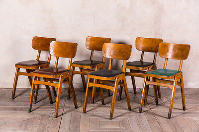 Original Ben Wooden Stacking Cafe Chairs With Upholstered Seat Various Colours