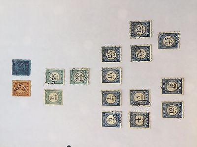Netherlands early port assortment of stamps from multiple collectors on pages