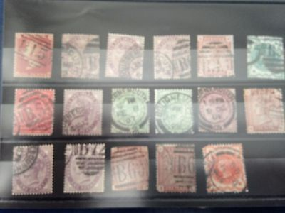 GB UK Victoria & Kings with good postmarks with B pre fixes and B town names