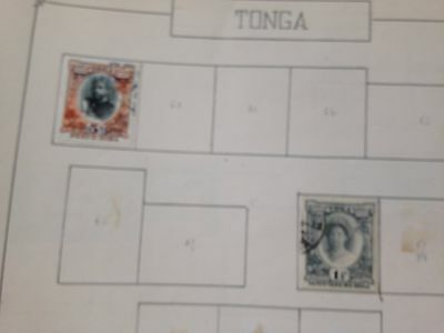 Tonga on album pages direct from French estate untouched