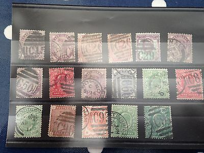 GB UK Victoria & Kings with good postmarks with C pre fixes and C town names