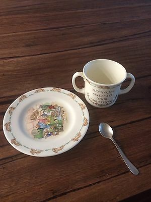 Royal Doulton Bunnykins Christening Plate And Cup