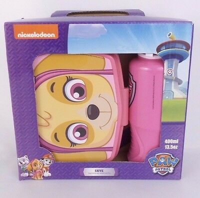 PAW PATROL Nickelodeon Snack Set Skye Snack Box Water bottle New NIB