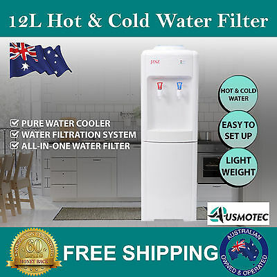 Pure Water Cooler & Dispenser Standing Model Hot & Cold Water Free Shipping