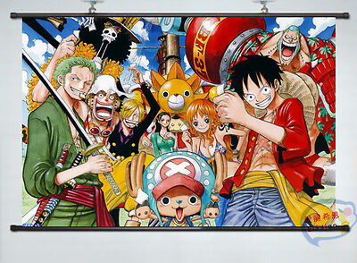 Home Decor Japan Anime Wall poster Scroll one piece whole role Cosplay   66