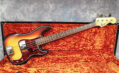 1969 Fender Precision - Sunburst - Excellent Condition - Andy Baxter Bass