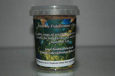 Aquarium Dried Bloodworm & Daphnia 520 ml Tub Approx 90g Fish Birds Reptiles