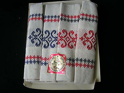 4 jolies serviettes de table Linge Basque  Métis 48 X 49 cm