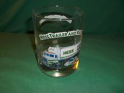 1996 Hess Truck Trailer and Racer Collectible Glass