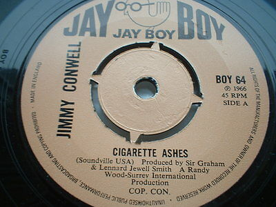 Jimmy Conwell Cigarette Ashes Jay Boy  In Ex Condition