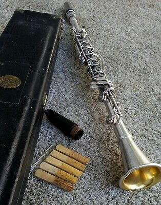 Vintage Conn 514N Professional Silver Clarinet