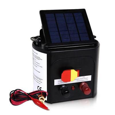 5km Solar Power Electric Farm Fence Energiser Power Charger 0.15J 8kV Output AU