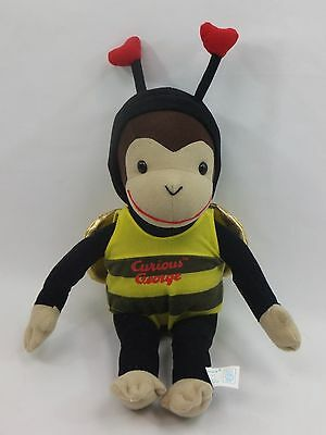 Curious George in Bumble Bee Costume Outfit Plush Stuffed Animal Toy