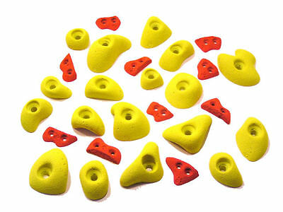 28 Rock Climbing Holds - Great Mix of Bolt On Holds & Screw On Edges