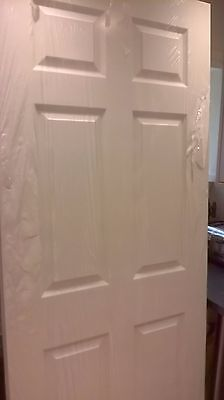 6panel grained white primed doors supplied and fitted