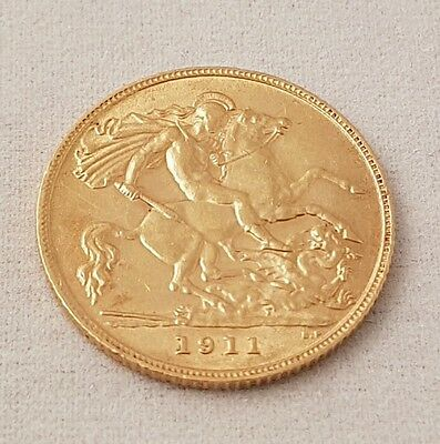 (1) Gold Georg Iv 1911 Half Sovereign Coin