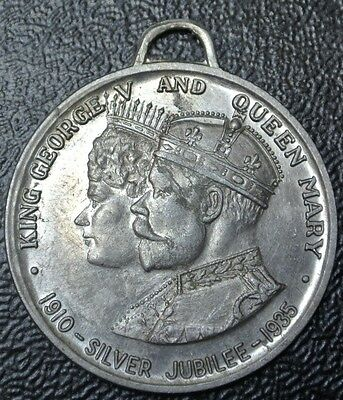 1910-1935 KING GEORGE V & QUEEN MARY Silver Jubilee Medal - Nice