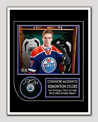 Connor McDavid #1 Draft Pick Autograph 2015, 8.5 by 11 in, Glossy Photo Paper