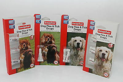 Beaphar Puppy,Small Dog,Large Dog,Flea & Tick Drops 4 - 12 weeks Treatments