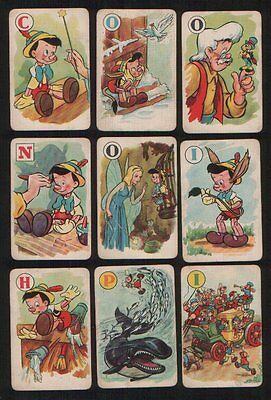 Collectible Vintage Cards game Pinocchio by Pepys