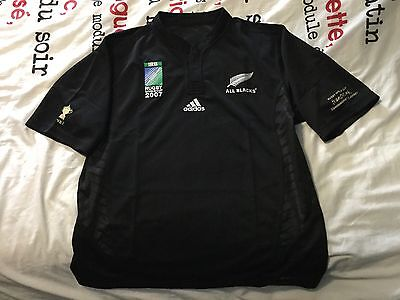 COLLECTOR: Maillot Rugby All Blacks Coupe du Monde 2007
